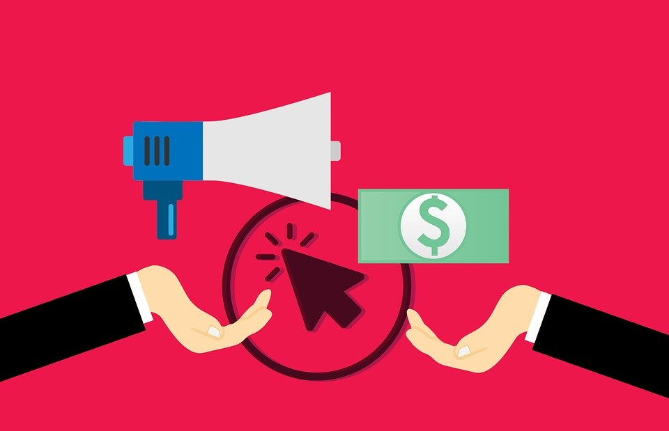 A graphical illustration of pay-per-click marketing